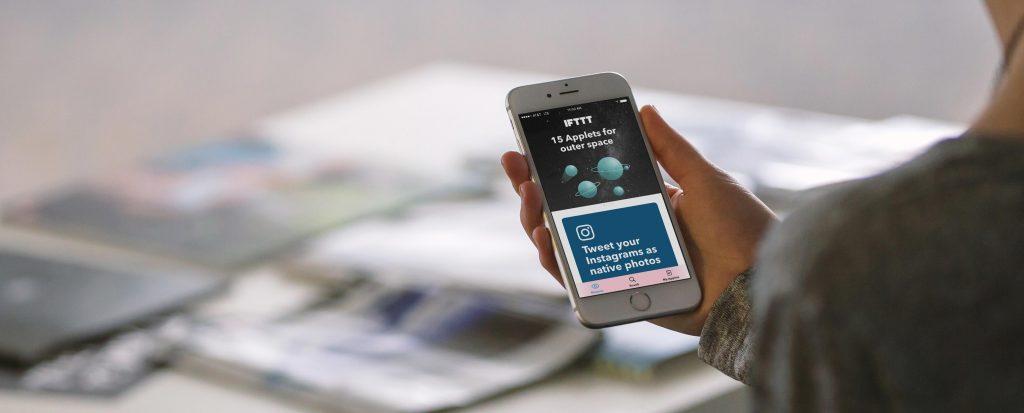 voorbeeld van de IFTTT app