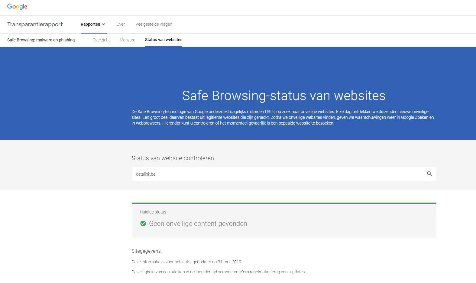 Transparantierapport Google_Datalink