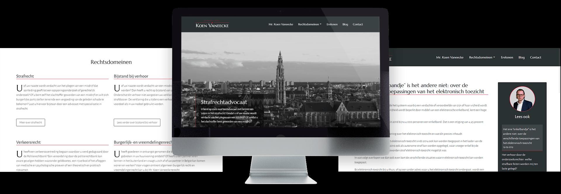 Website voor strafrechtadvocaat Mr. Koen Vaneecke
