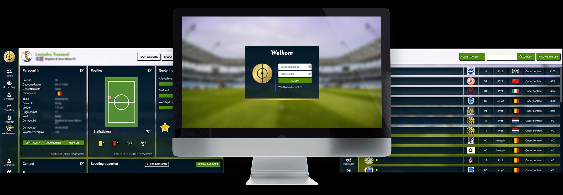 Platform op maat voor voetbalmanagement voor Josy Comhair van JC playermanagement