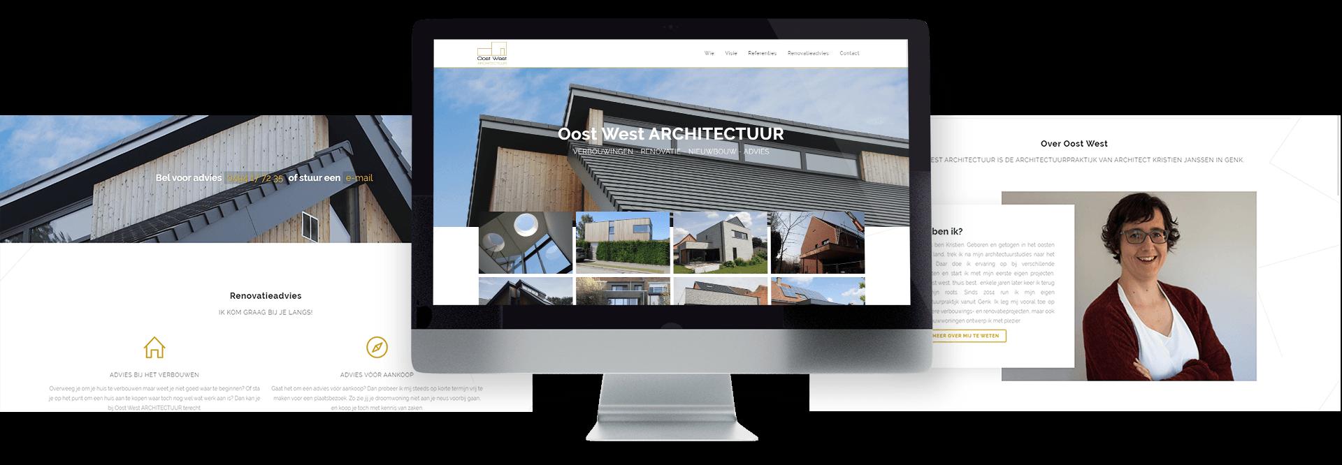 Moderne website met portfolio voor architecte Kristien Janssen te Genk