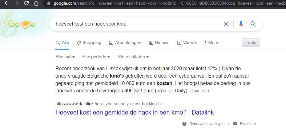 Hoeveel kost een hack-feature snippet